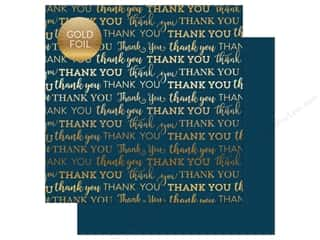 """Carta Bella Collection Thank You Paper 12""""x 12"""" Foil Navy (25 pieces)"""