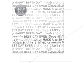 "scrapbooking & paper crafts: Carta Bella Collection Celebrate Paper 12""x 12"" Foil White (25 pieces)"
