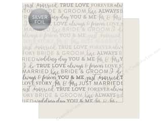 "scrapbooking & paper crafts: Carta Bella Collection Love Paper 12""x 12"" Foil Gray (25 pieces)"