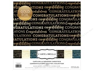 "scrapbooking & paper crafts: Carta Bella Collection Congratulations Collection Kit 12""x 12"" Foil"
