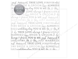 "Carta Bella Collection Love Paper 12""x 12"" Foil White (25 pieces)"