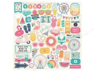 "Echo Park Collection Summer Dreams Sticker 12""x 12"" Elements (15 pieces)"