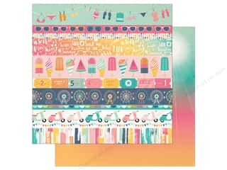 "Echo Park Collection Summer Dreams Paper 12""x 12"" Border Strips (25 pieces)"