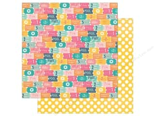 "Echo Park Collection Summer Dreams Paper 12""x 12"" Admit One (25 pieces)"