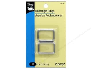 Dritz Rectangle Rings 1 in. 2 pc. Nickel