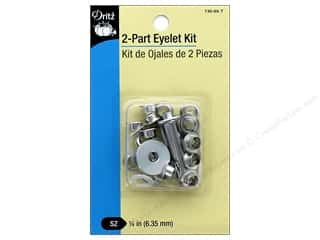 heavy interfacing: Dritz 2-Part Eyelet Kit 15 pc. Nickel with Tool