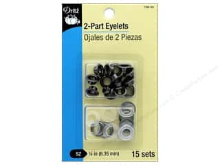 Dritz 2-Part Eyelets 15 pc. Gunmetal