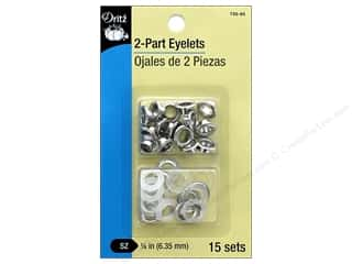 Dritz 2-Part Eyelets 15 pc. Nickel
