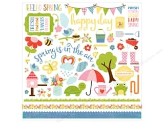 "Echo Park Collection Celebrate Spring Sticker Element 12""x 12"""