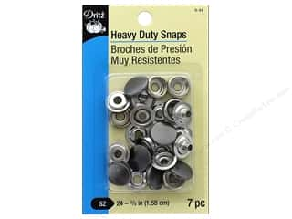 sewing & quilting: Dritz Heavy Duty Snaps Size 24 7 pc. Gunmetal