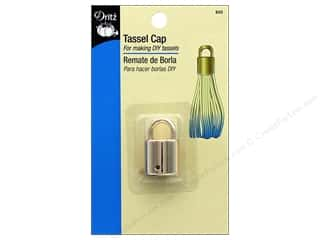 craft & hobbies: Dritz Tassel Cap 1 pc. Gold