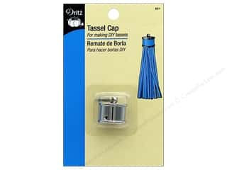 craft & hobbies: Dritz Tassel Cap 1 pc. Nickel
