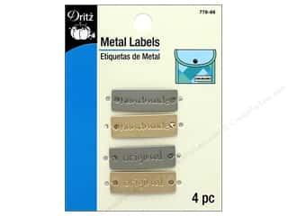Dritz Metal Labels 4 pc. Handmade & Original