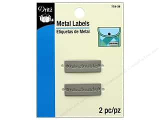 Dritz Metal Labels 2 pc. Handmade Matte Nickel