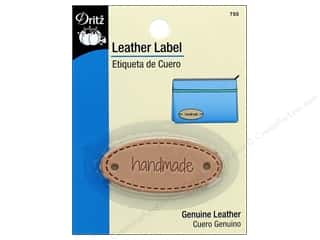 Dritz Leather Label 1 pc. Oval Handmade