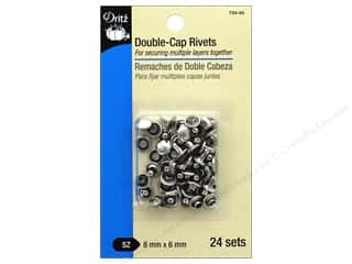 Dritz Double-Cap Rivets - Nickel 24 pc.