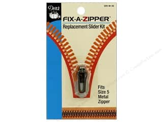 Dritz Fix-a-Zipper Replacement Slider Kit 1 pc. Fits Size 5 Metal Zipper