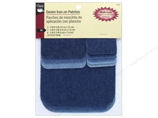 sewing & quilting: Dritz Denim Iron-On Patches 12 pc. Assorted