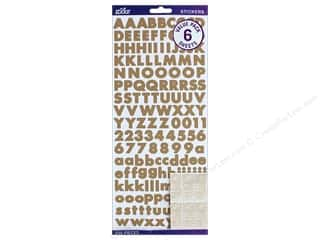stickers: EK Sticko Stickers Alpha Value Pack Futura Bold Kraft