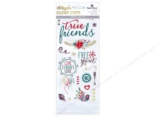 bird sticker: Paper House Sticker Clear Cuts Bohemian Friends