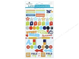 scrapbooking & paper crafts: Paper House Collection Life Organized Sticker School