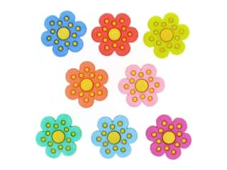 novelties: Jesse James Embellishments - Polka Dot Flowers