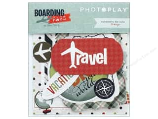 Photo Play Collection Boarding Pass Ephemera Die Cuts