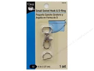 Dritz Small Swivel Hook & D-Ring - Nickel 1 pc.