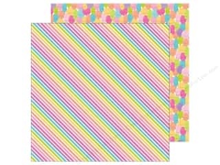 "scrapbooking & paper crafts: Doodlebug Collection Fairy Tales Paper 12""x 12"" Rainbow Ribbons (25 pieces)"