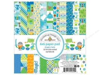 """Doodlebug Collection Dragon Tails Paper Pad 6""""x 6"""""""