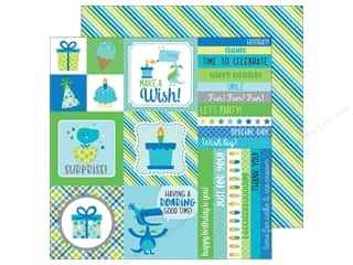 """Doodlebug Collection Dragon Tails Paper 12""""x 12"""" Sea Serpent Stripes (25 pieces)"""
