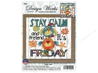 yarn & needlework: Design Works Counted Cross Stitch Kit 10 x 10 in. Stay Calm