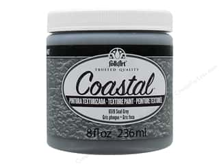 Plaid FolkArt Coastal Texture Paint 8 oz. Seal Grey