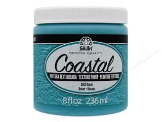 craft & hobbies: Plaid FolkArt Coastal Texture Paint 8 oz. Ocean