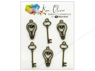 Maya Road Ken Oliver Charms Vintage Bulbs & Keys