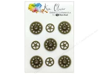 beading & jewelry making supplies: Maya Road Ken Oliver Charms Vintage Gears