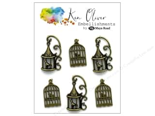 beading & jewelry making supplies: Maya Road Products Vintage Ken Oliver Charms Bird Cages