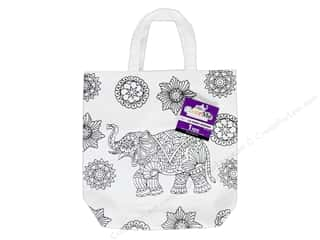 Tulip Color Me Canvas Tote Elephant White