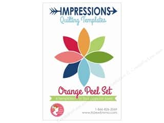 It's Sew Emma Notions Impressions Quilting Template Orange Peel Set