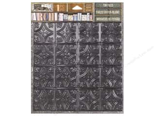 stickers: 7 Gypsies Collection Architextures Tin Tile Onyx