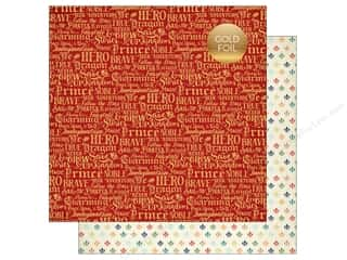 "Echo Park Collection Once Upon A Time Prince Paper 12""x 12"" Charming Words"