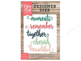 dies: Echo Park Die Word Cherish Moments
