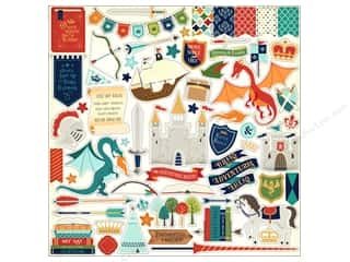 scrapbooking & paper crafts: Echo Park Collection Once Upon A Time Prince Sticker Elements (15 pieces)
