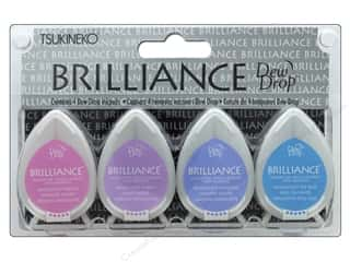 Tsukineko Brilliance Dew Drop Stamp Pad Set Jewel Tone