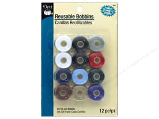 Dritz Bobbin Reusable Pre-Filled Class 66 40yd 12pc Multi