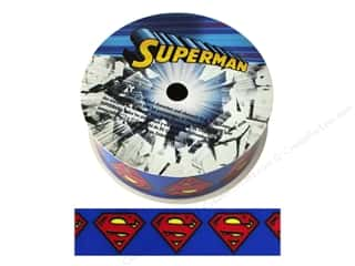 "ribbon: Simplicity Ribbon Grosgrain 1"" Superman Logo"