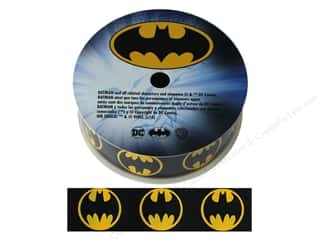 "Simplicity Ribbon Grosgrain 1"" Batman Logo"