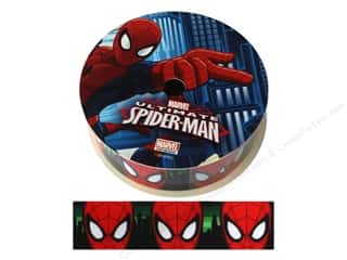 "ribbon: Simplicity Ribbon Grosgrain 1"" Spiderman Face"