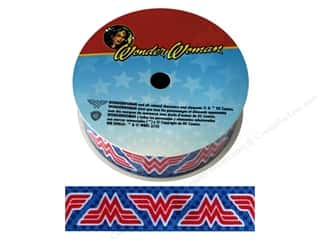 "ribbon: Simplicity Ribbon Grosgrain 1"" Wonder Woman Logo"