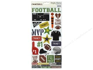 "Simple Stories: Simple Stories Collection Football Sticker 6""x 12"" (12 pieces)"